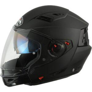 Airoh EX11 Motorrad Helm Vorstands, Größe : 54 cm Mattblack Extragroß 1/2
