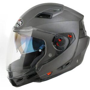 Airoh EX29 Motorrad Helm Vorstands, Größe : 54 cm, Grau 1/2